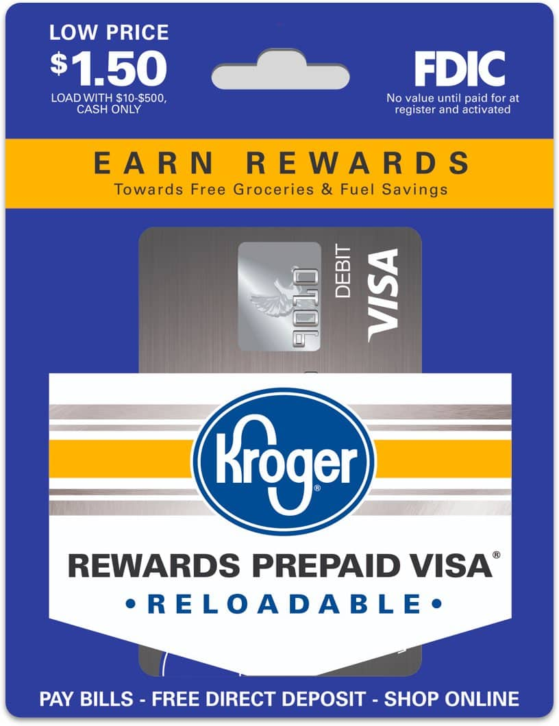Personalized Prepaid Debit Card Kroger Rewards Prepaid Visa