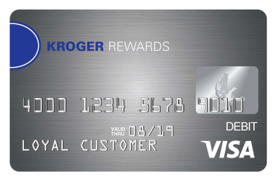 Kroger Rewards reloadable prepaid visa debit card