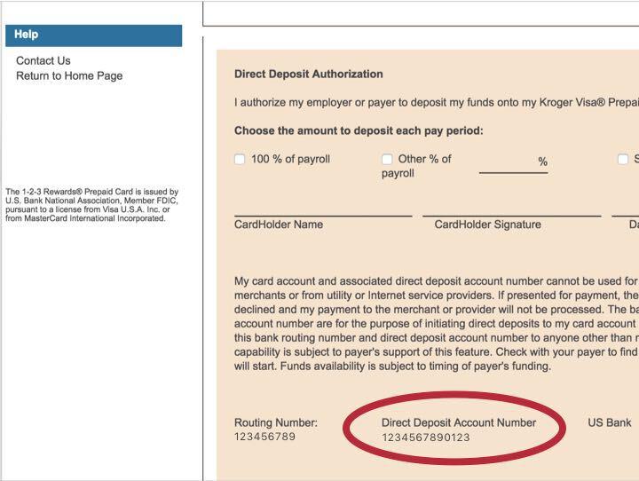 Prepaid Cards With Direct Deposit Kroger REWARDS Prepaid Visa
