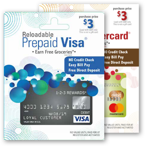 1-2-3 REWARDS Temporary Visa® Prepaid Debit Card